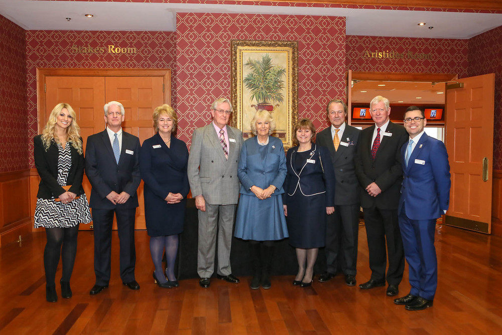 The Brooke International Team with HRH