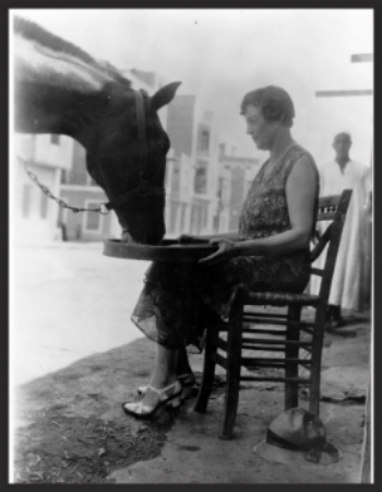 Dorothy Brooke and one of the first war horses she rescued 80 years ago.
