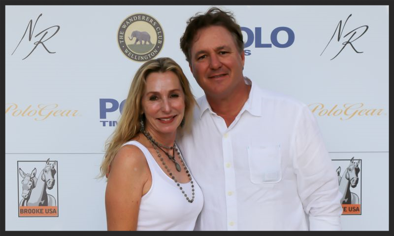 Our generous hosts for Nic Roldan's Sunset Polo and White Party, Katherine and Mark Bellissimo, at their beautiful Wanderers Club.  Photo by Phelps Media