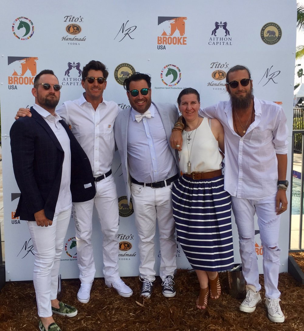 #TeamNR- Topher Grubb, Nic Roldan, Josh Sagman, Natascha Baecher & DJ Adam Lipson; Nic Roldan's 2nd Annual Sunset Polo & White Party.jpg