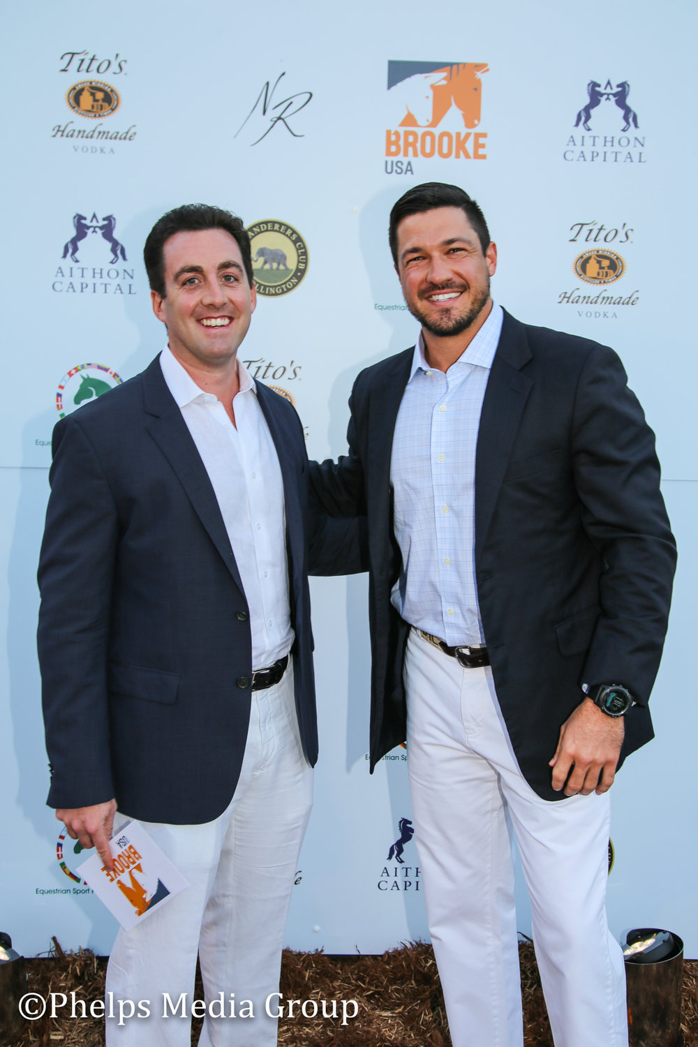 Frank Ferrante and Frank Tighe; Nic Roldan's 2nd Annual Sunset Polo & White Party, FL, by Phelps Media.jpg