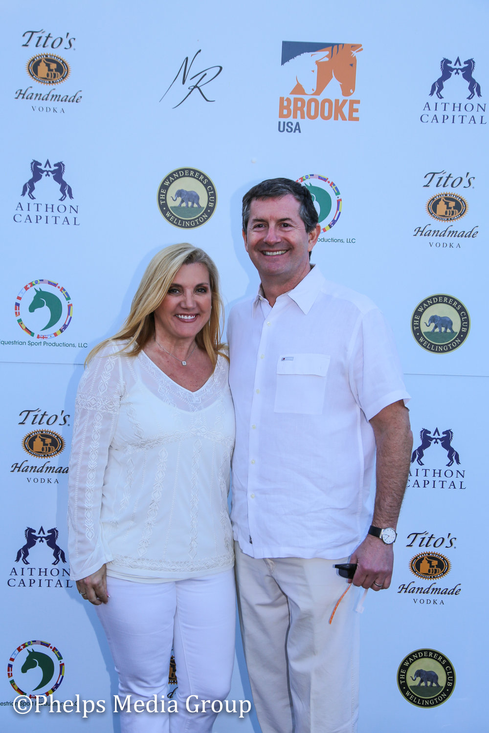 Jon and Carmen Evelson; Nic Roldan's 2nd Annual Sunset Polo & White Party, FL, by Phelps Media.jpg