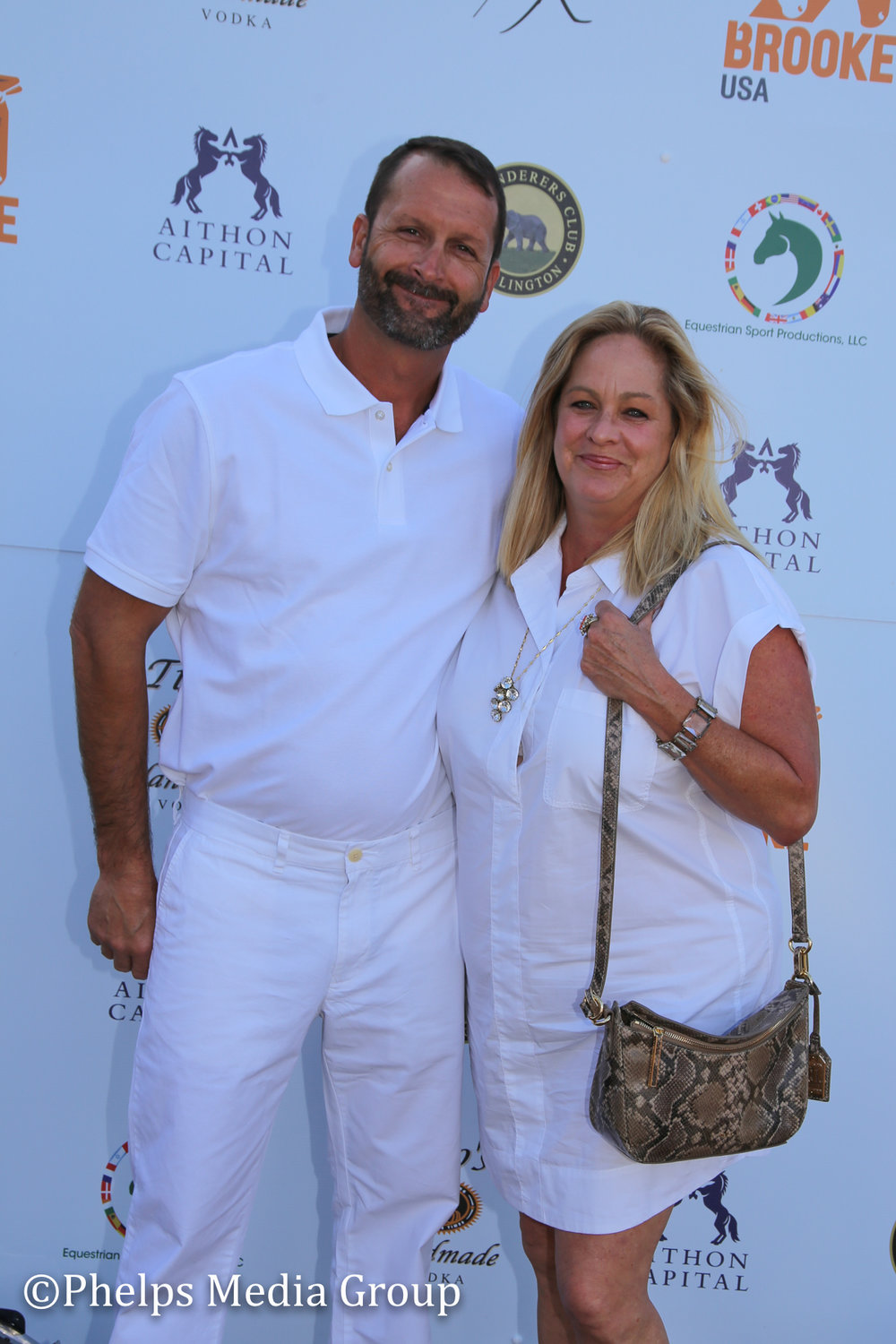 Lisa Keating and Chad Jacobs; Nic Roldan's 2nd Annual Sunset Polo & White Party, FL, by Phelps Media.jpg