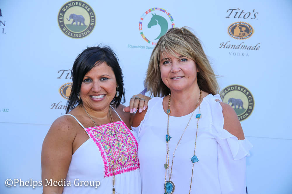 Maria Curieri and Marina Parrish; Nic Roldan's 2nd Annual Sunset Polo & White Party, FL, by Phelps Media.jpg
