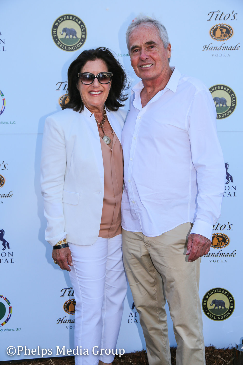 Michele and Richard Powers; Nic Roldan's 2nd Annual Sunset Polo & White Party, FL, by Phelps Media.jpg
