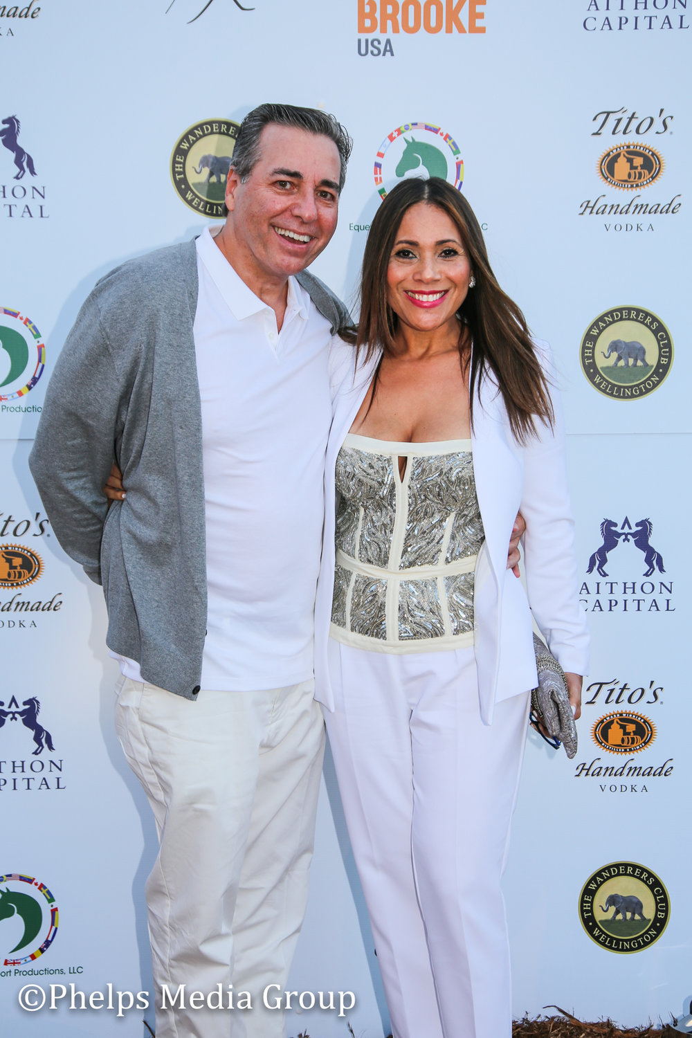 Mr and Mrs Dinucci; Nic Roldan's 2nd Annual Sunset Polo & White Party, FL, by Phelps Media.jpg
