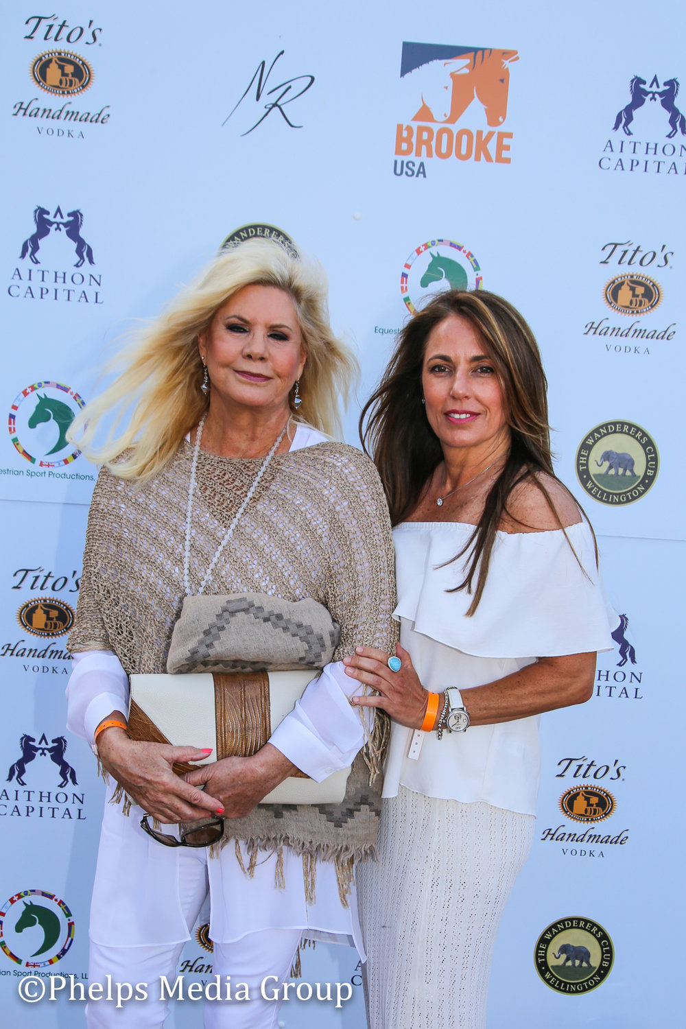 Pamela Allardice and Tracey Broxmeyer; Nic Roldan's 2nd Annual Sunset Polo & White Party, FL, by Phelps Media.jpg