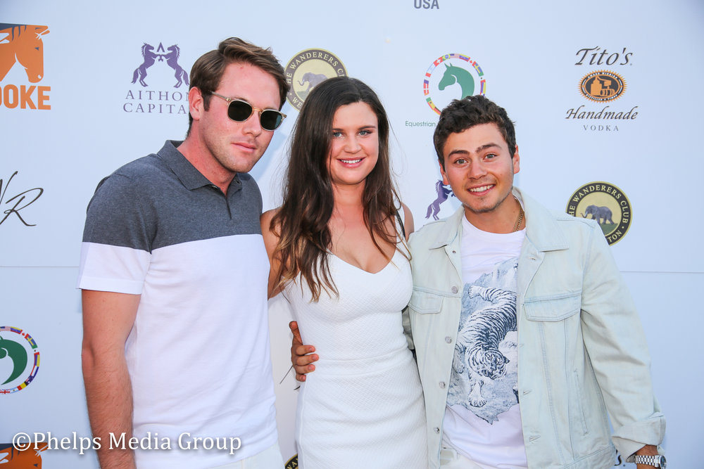 Rob Grey Haylee Barnhill and Teddy Volck; Nic Roldan's 2nd Annual Sunset Polo & White Party, FL, by Phelps Media.jpg