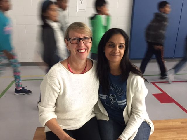 Librarian Gurdeep Gadwal at Sir Isaac Brock PS