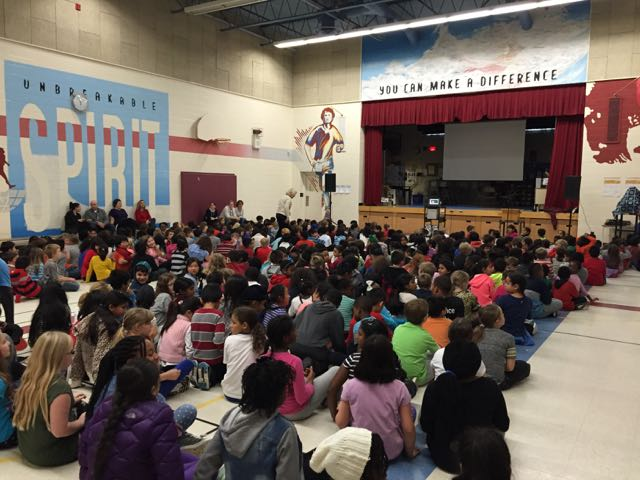 Assembly at Terry Fox Public School