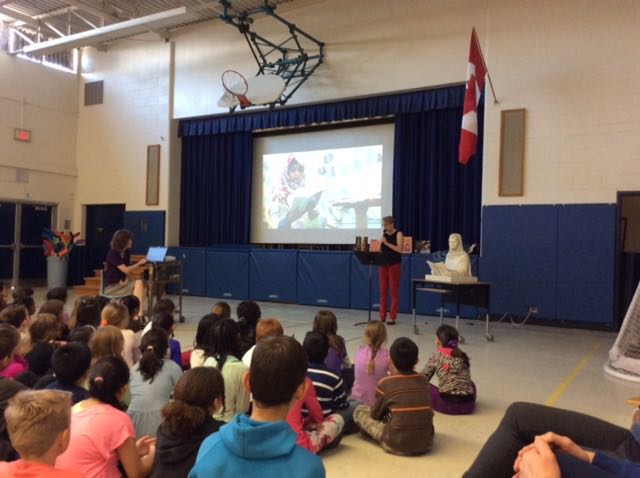 Presenting at Burnhamthorpe Public School