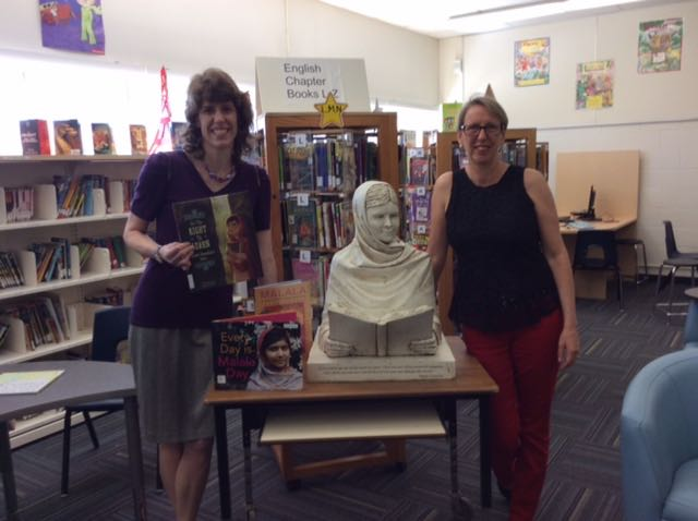 Librarian Karen Forgrave at Burnhamthorpe Public School