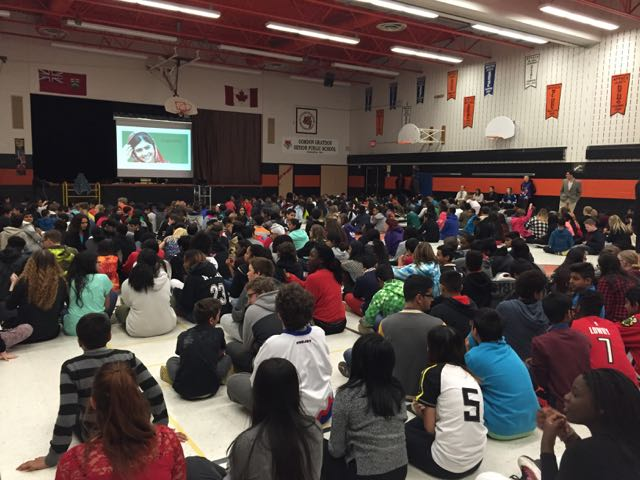 Presenting at Gordon Graydon Sr Public School
