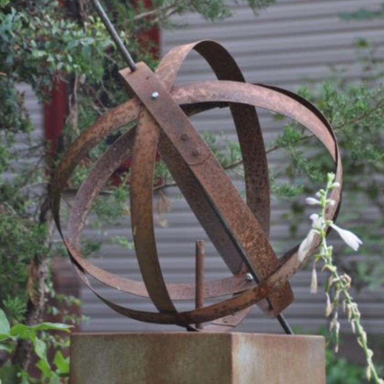 Astrolabe Redux - Garden Sculpture