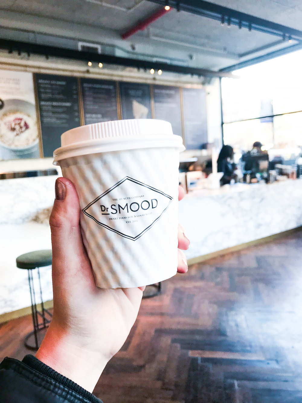 - While enjoying my coffee, I discovered the menu at Dr. Smood's and after my mouth watered for about five minutes too long I ordered the Vegan Sandwich (once again trying new things!) the sandwich has: