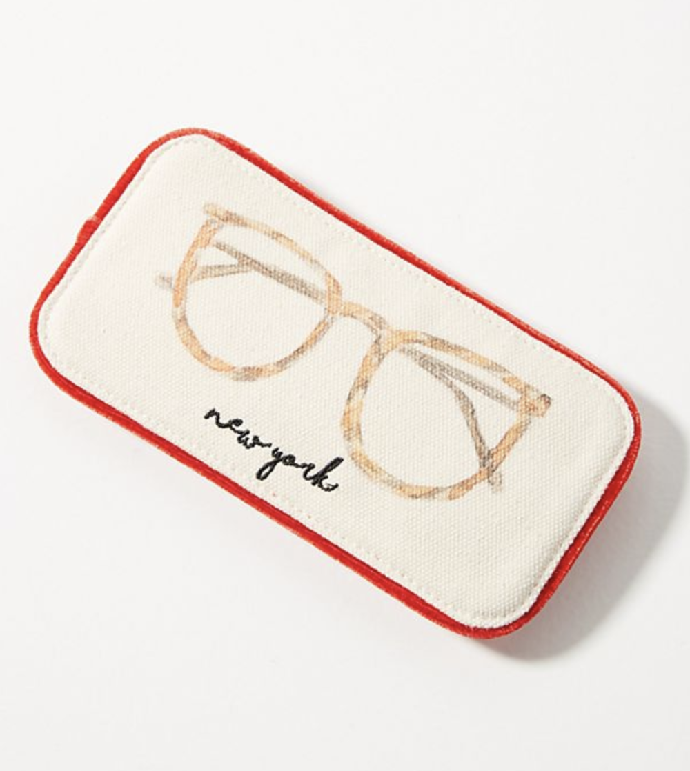 - 3. City-Themed Glasses Case, Anthropologie, $18Ok, so who does not love cute sunglasses and a cute sunglass case? Keep your mom stylish by getting her one of these super cute cases! Besides New York, they also have London, Paris, Miami and LA!