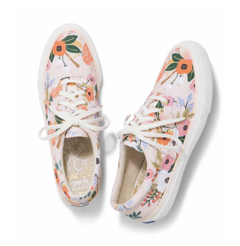 - 9. Lively Floral Everyday Anchor Sneaker, Rifle Paper X Keds, $70Looking to give your mom something different this year? Or maybe something she can really use? Get her a pair of the amazingly awesome Keds from the Rifle Paper X Keds collaboration! These shoes are perfect for the warm weather and will look so cute with so many of her summer outfits!