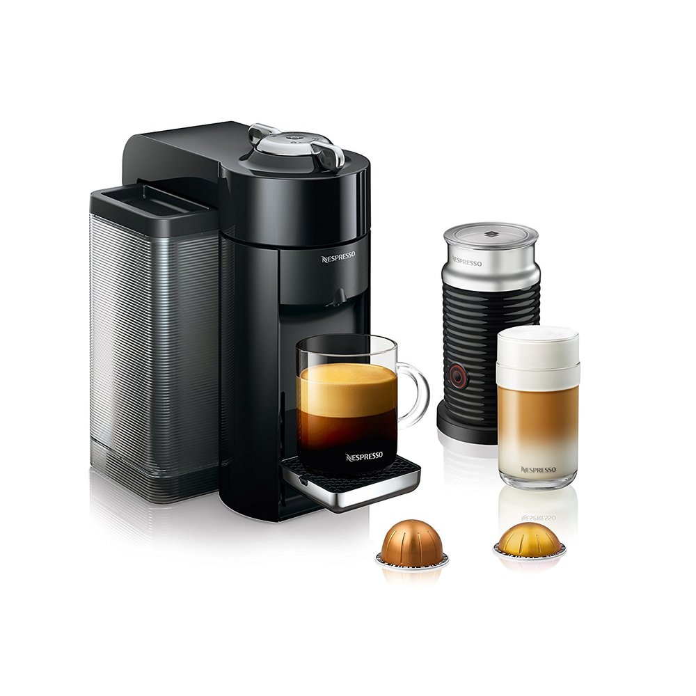 - 3. Nespresso Vertuo Evoluo Coffee and Espresso Machine, Amazon, $218Is your dad always on the go and needs his caffeine fix? Or does he pride himself on being a coffee aficionado? Then getting him a Nespresso machine would be the perfect gift! Their Vertuo line not only makes a couple types of espresso but lots of coffee as well! The bundle back also comes with their milk frother and a starter pack of coffee and espressos to try! I have this machine and I love it!