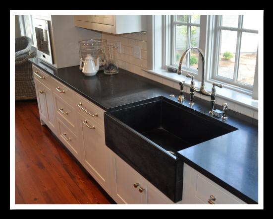Absolute Black Honed Granite With Custom GraniteSsink