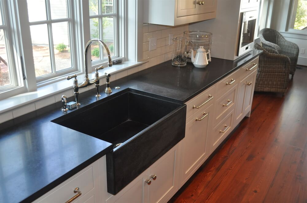 Black Granite Kitchen Countertops granite kitchen sink - granite kitchen countertop w bullnose edge