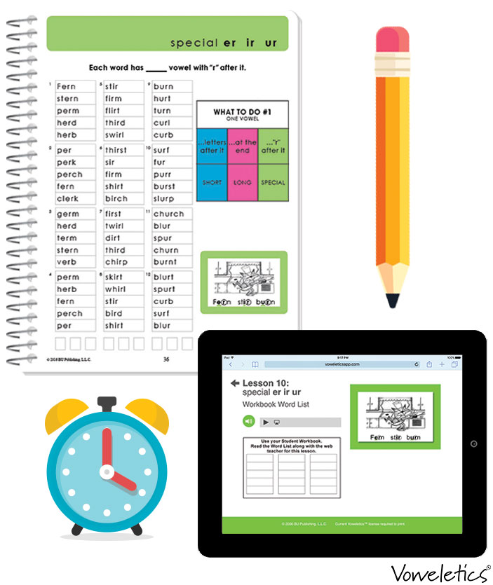 Practice Makes Perfect - Word Lists provide vowel sound practice and help your child build vocabulary. Each Word List is accompanied by a read-along audio file to enhance fluency. Cumulative Word List Reviews assess which vowel sounds may need to be reviewed.