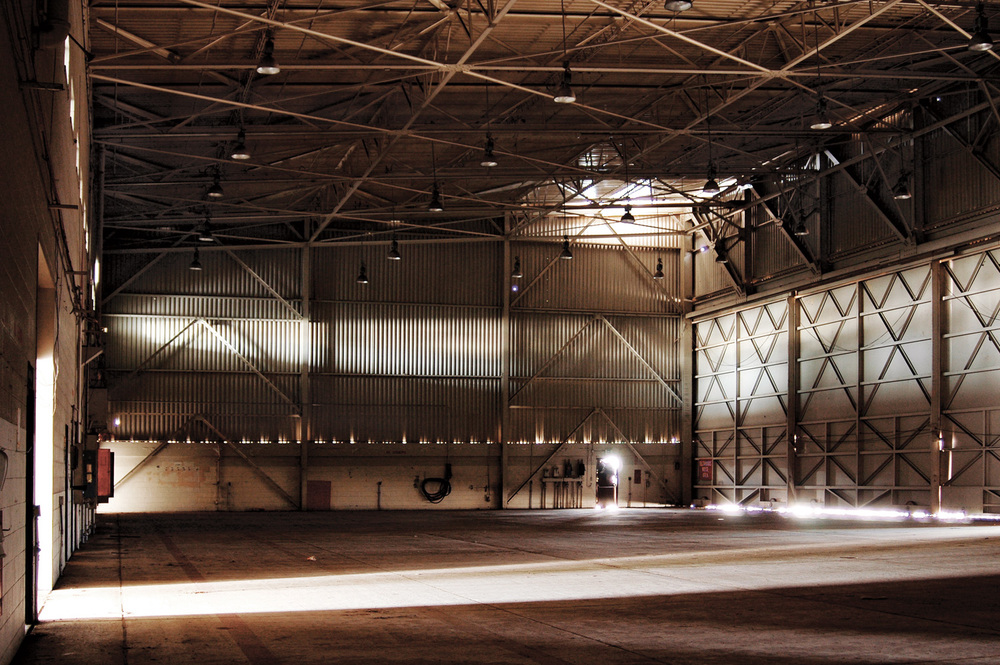 The entirety of Building #115 (F-18 hanger) at the abandoned El Toto Marine Corps Air Station in Southern California was transformed into a massive camera.