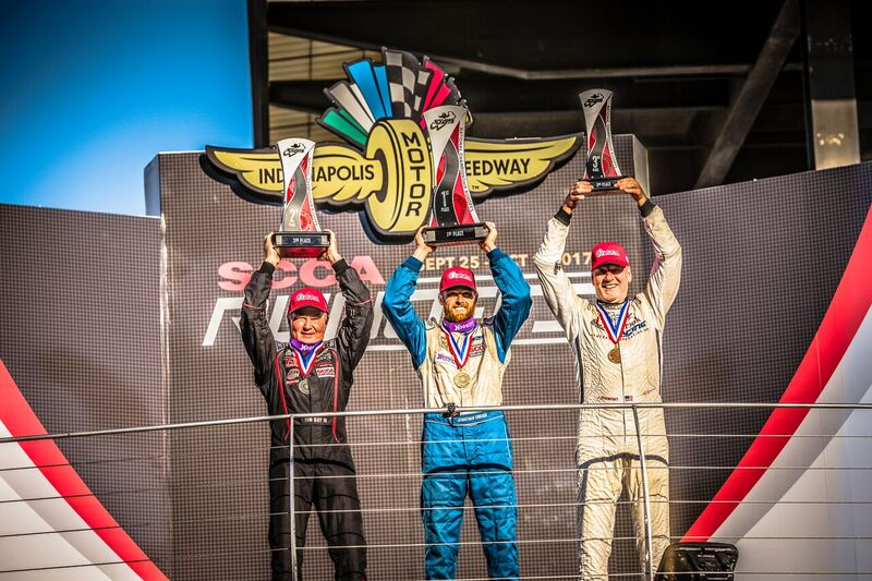 This is the podium celebration that never happened according to the final results that dropped me to 4th due to a strange quirk in the rules regarding a red flag race stoppage.