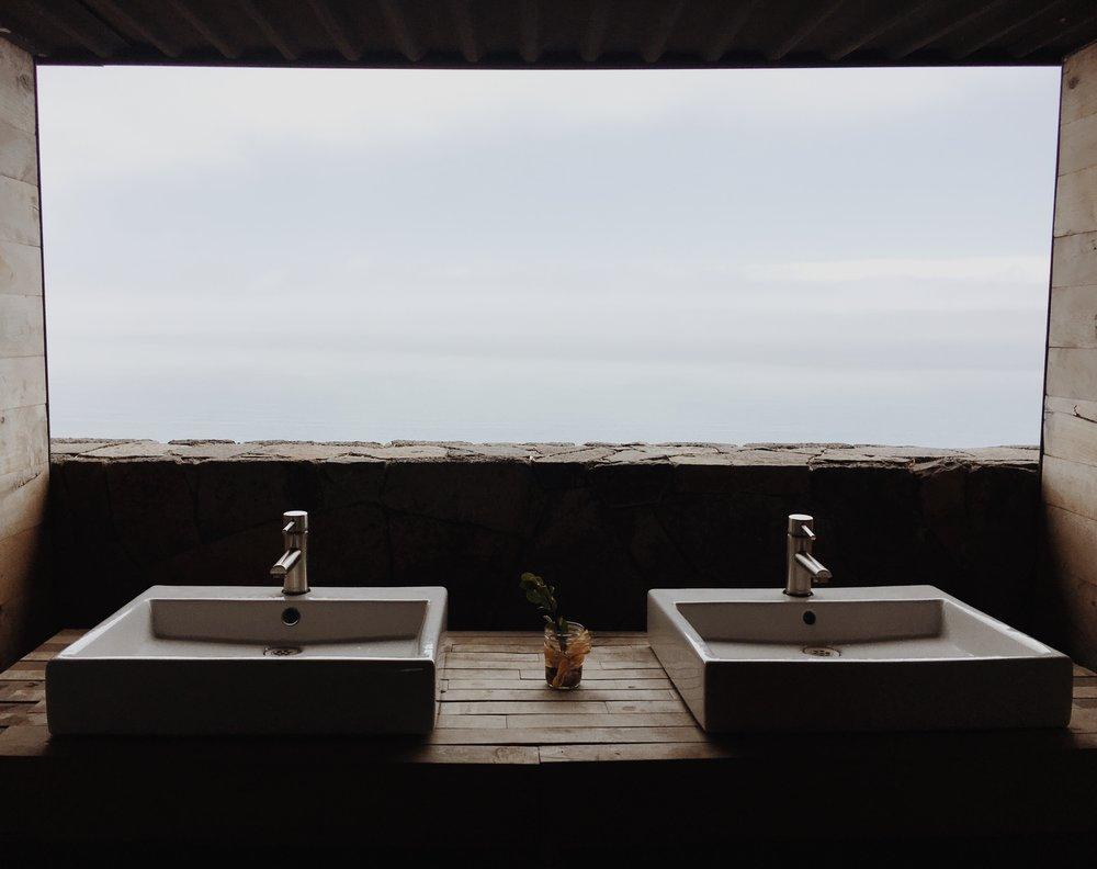 bathroom view at Cuatro Cuatros