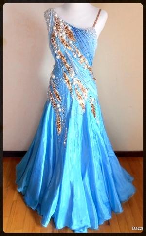 Smooth Standard Ballroom Dress Rental Dazzle Dance Dress Rentals
