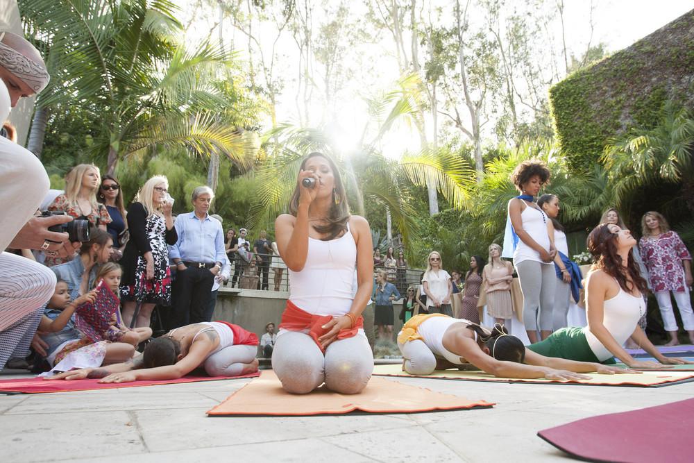 Rainbeau Mars delivers a sensational yoga demonstration
