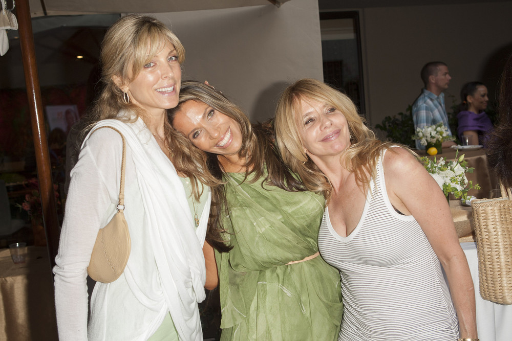 Marla Maples, Rainbeau Mars, and Rosanna Arquette