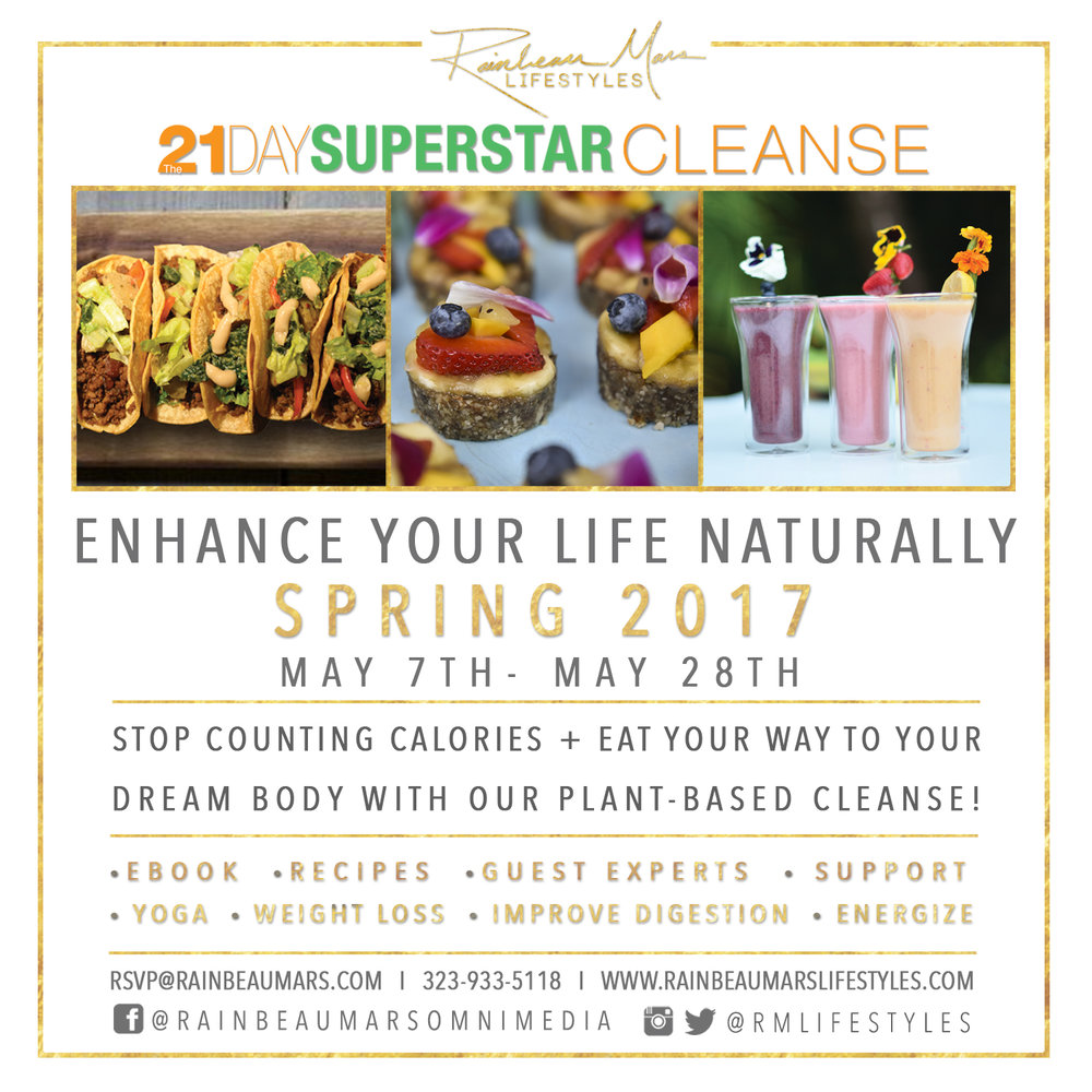 Events rainbeau mars lifestyles the 21 day superstar cleanse spring 2017 fandeluxe Images