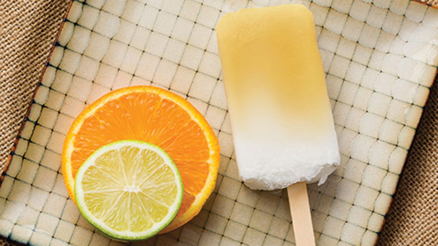 CITRUS COCONUT POPSICLES WITH LIME ESSENTIAL OIL
