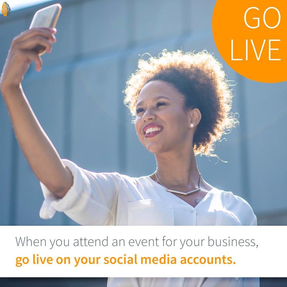 go live on social media