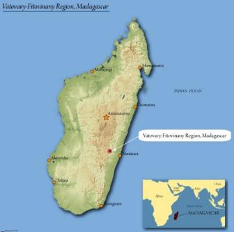 Usda Organic Coffee - Natural Robusta Madagascar - Map