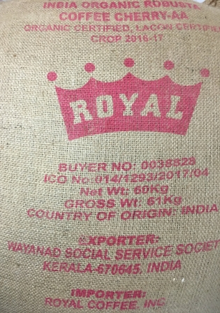 Usda Organic Coffee - India Robusta - Sack