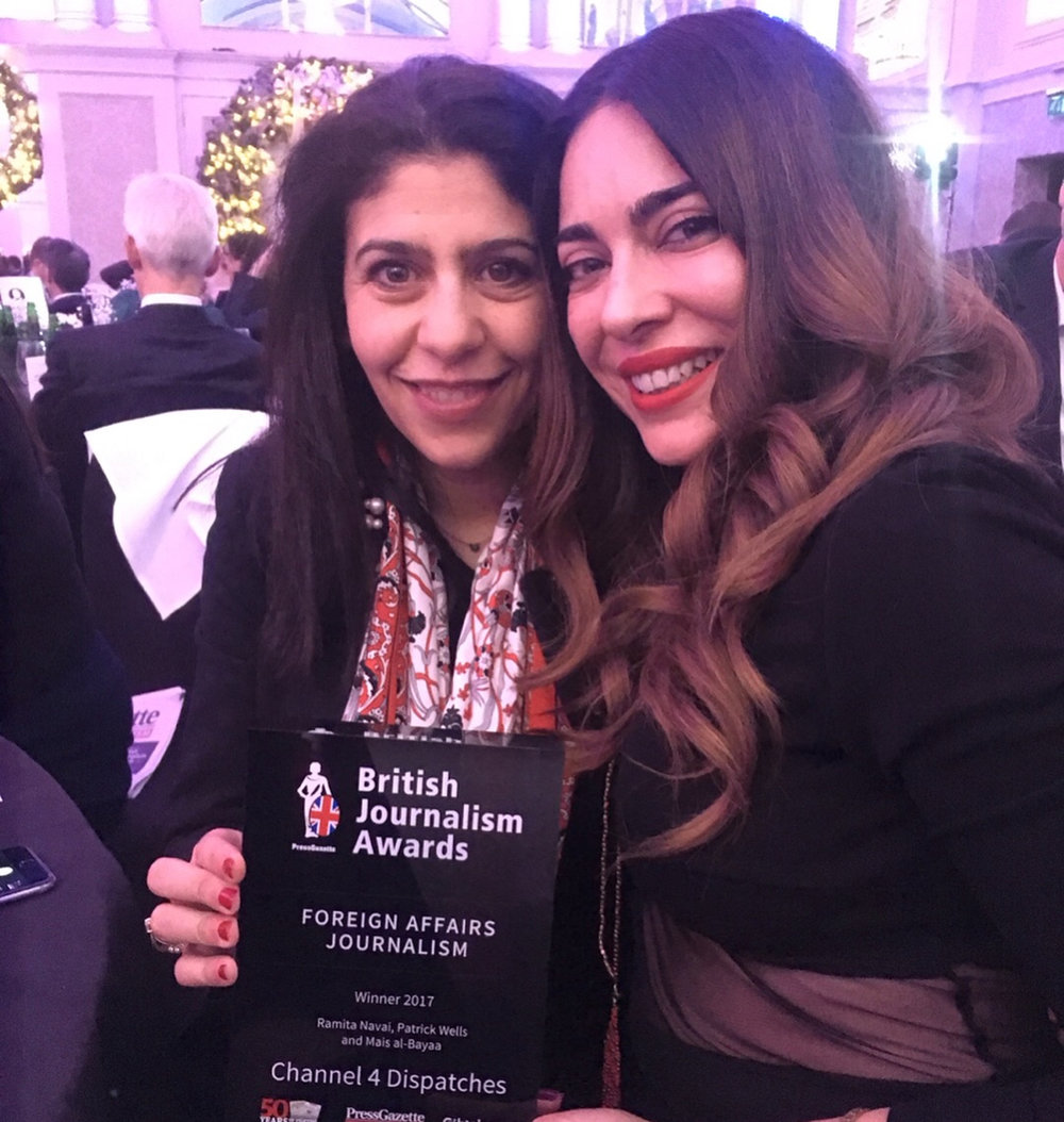 With producer Mais AlBayaa with our award! Sadly our director Patrick Wells was abroad working.