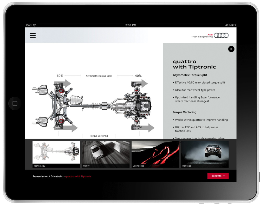 After a feature is selected, the dealer can go into more details about a certain feature.