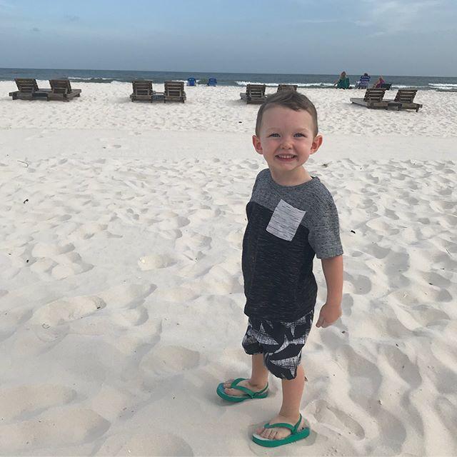 Orange Beach, AL 🍊 Sooo worth being smooshed in the back seat between two screaming babies for 4+ hours!! Loved every minute