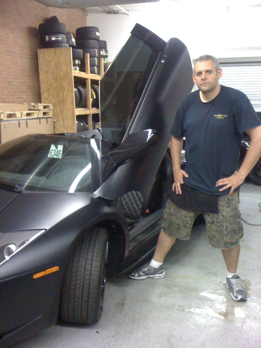 Matt Black Lamborghini Murcielago.  This one of a kind Lambo was incredible!
