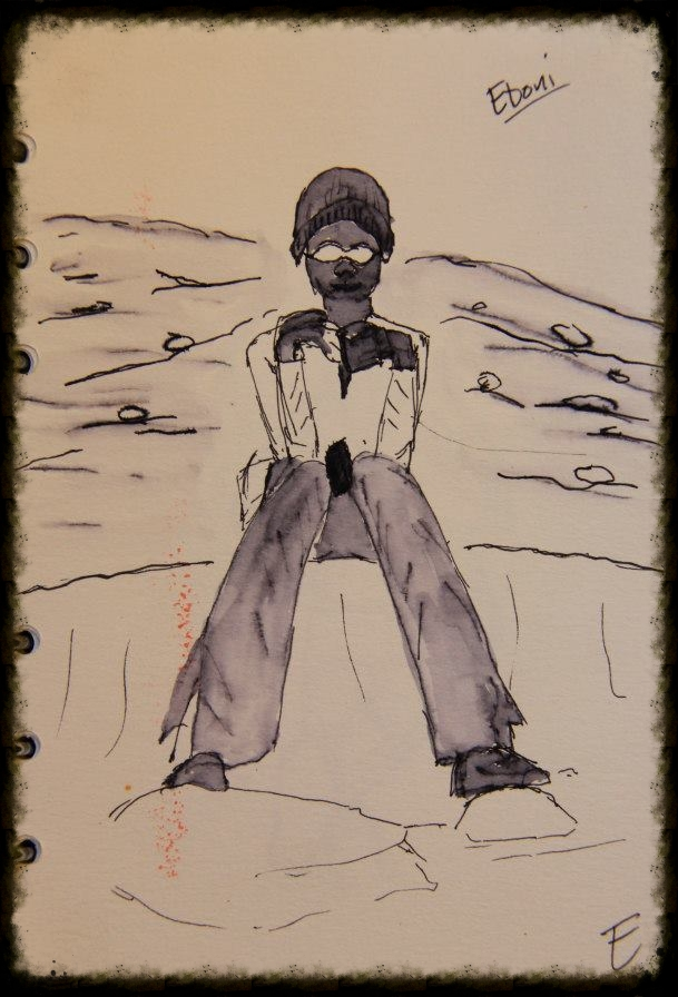 eboni, girls on ice: ink on paper