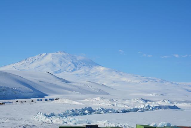 Pressure ridges &Mt. Erebus