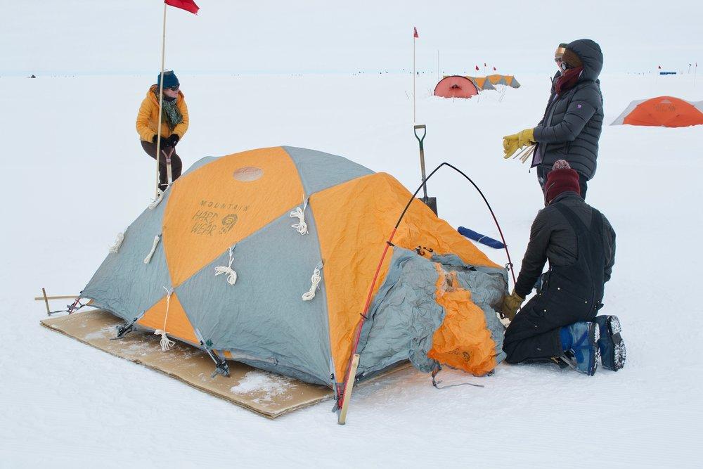 Tent set up!