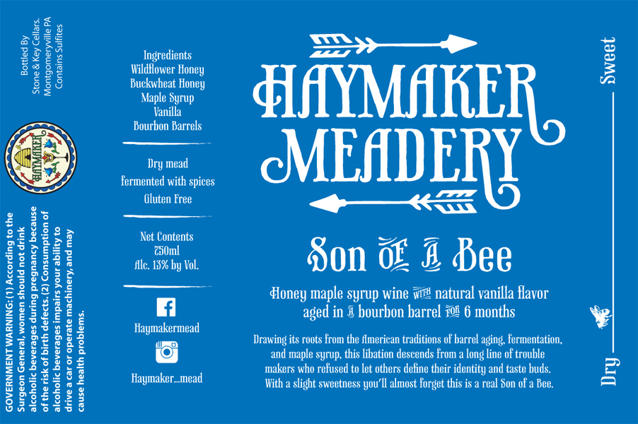Son of a Bee - Drawing its roots from the American traditions of barrel aging, fermentation, and maple syrup, this libation descends from a long line of trouble makers who refused to let others define their identity and taste buds. With a slight sweetness you'll almost forget this is a real Son of a Bee.Dry Mead 750ml13% ABV