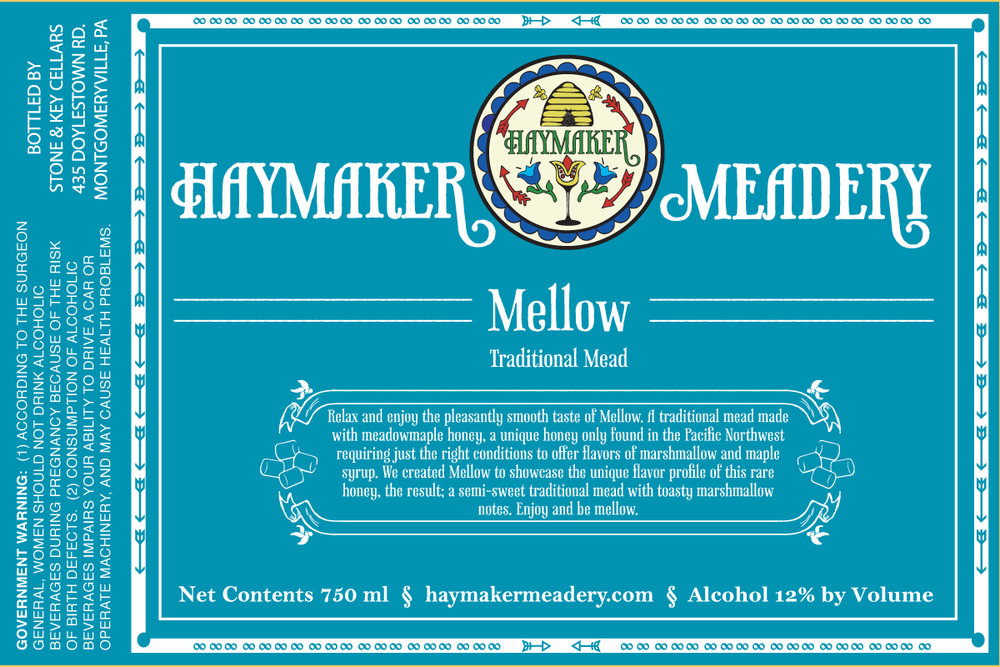 Mellow - Relax and enjoy the pleasantly smooth taste of Mellow. A traditional mead made with meadowmaple honey, a unique honey only found in the Pacific Northwest requiring just the right conditions to offer flavors of marshmallows and maple syrup. We created Mellow to showcase the unique flavor profile of this rare honey. The result; a semi-sweet traditional mead with toasty marshmallow notes. Enjoy and be mellow. Semi-Sweet Mead 500ml12% ABV