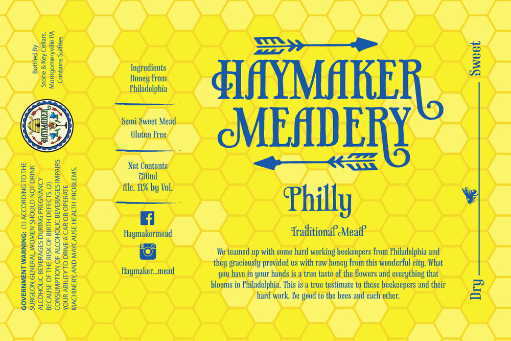 Philly - Available February 3rd - We teamed up with some hard working beekeepers from Philadelphia and the graciously provided us with raw honey from this wonderful city. What you have in your hands is a true taste of the flowers and everything that blooms in Philadelphia. This is a true testament to these beekeepers and their hard work. Be good to the bees and each other. Semi-Sweet Mead 750ml11% ABV