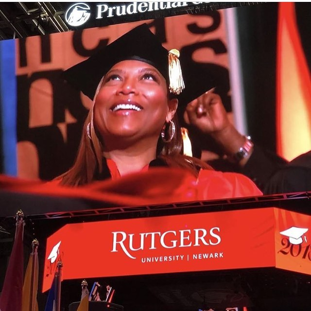 Congrats to the Queen on her Honorary Doctorate ! @queenlatifah . A real Role Model to all the young Girls of the World. #sdhp #queenlatifah #unity #flavaunit #jerseylegend