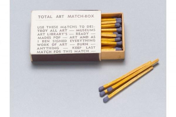 Ben Vautier. Total Art Matchbox from Flux Year Box 2. c.1968, Fluxus Edition unannounced