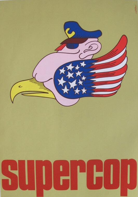Supercop movie poster, Vittorio Fiorucci, 1969