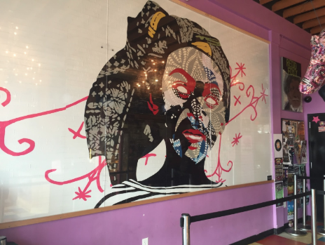 BEYOND ELSEWHERE, 8x16, 2014  1520 East Colfax Ave., Denver, CO